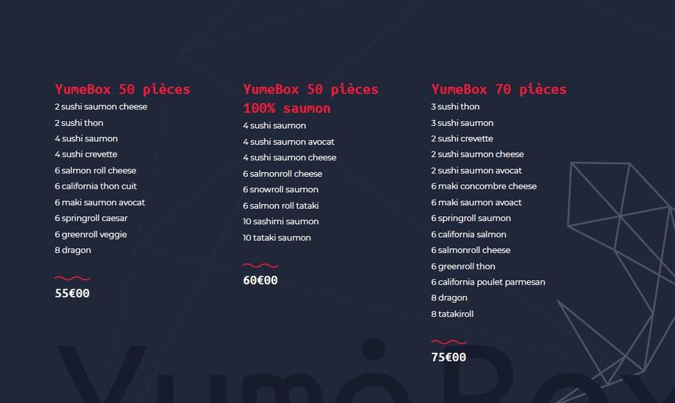 Les yume Box - Restaurant Yume Sushi Strasbourg