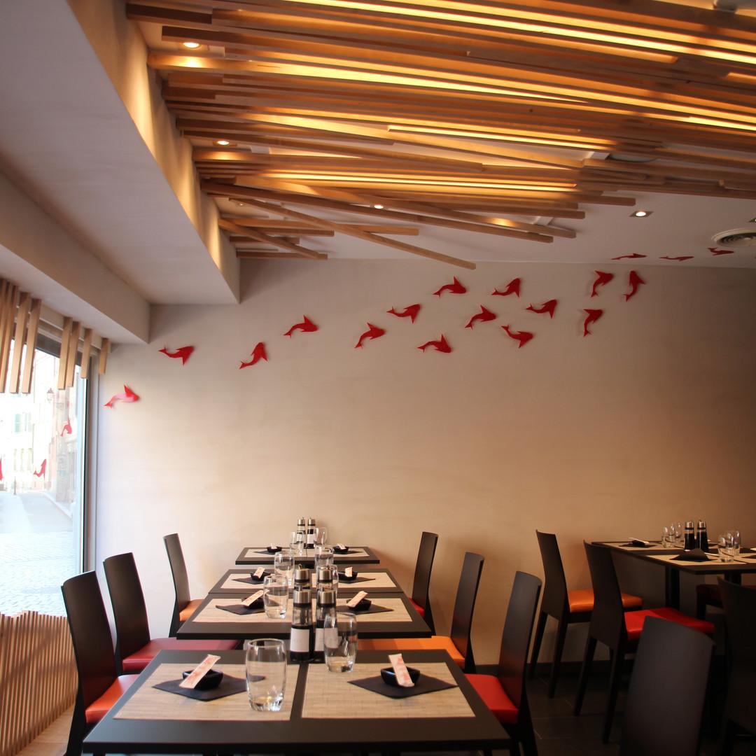 La décoration de la salle du restaurant - Restaurant Yume Sushi Strasbourg