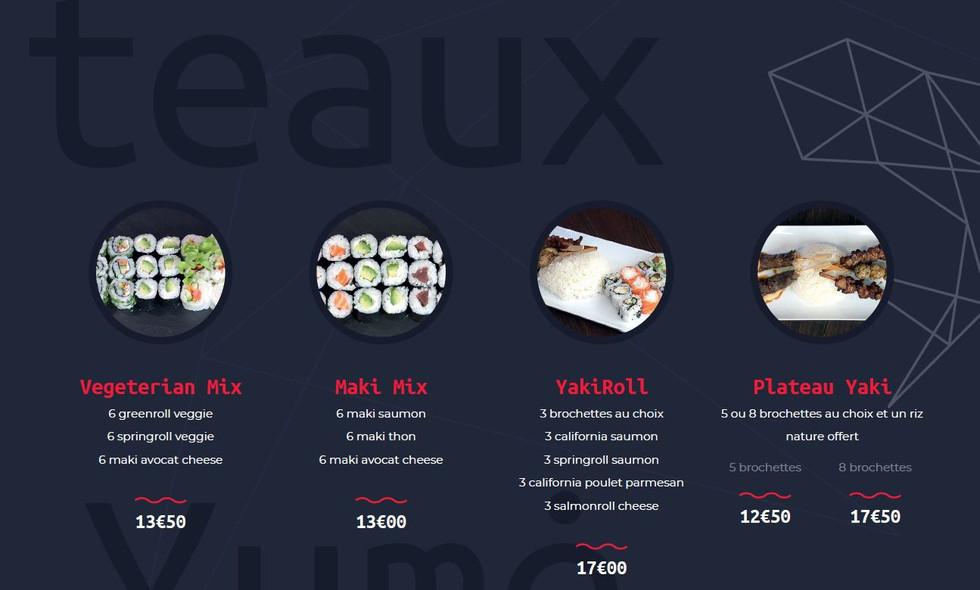 Les plateaux - Restaurant Yume Sushi Strasbourg
