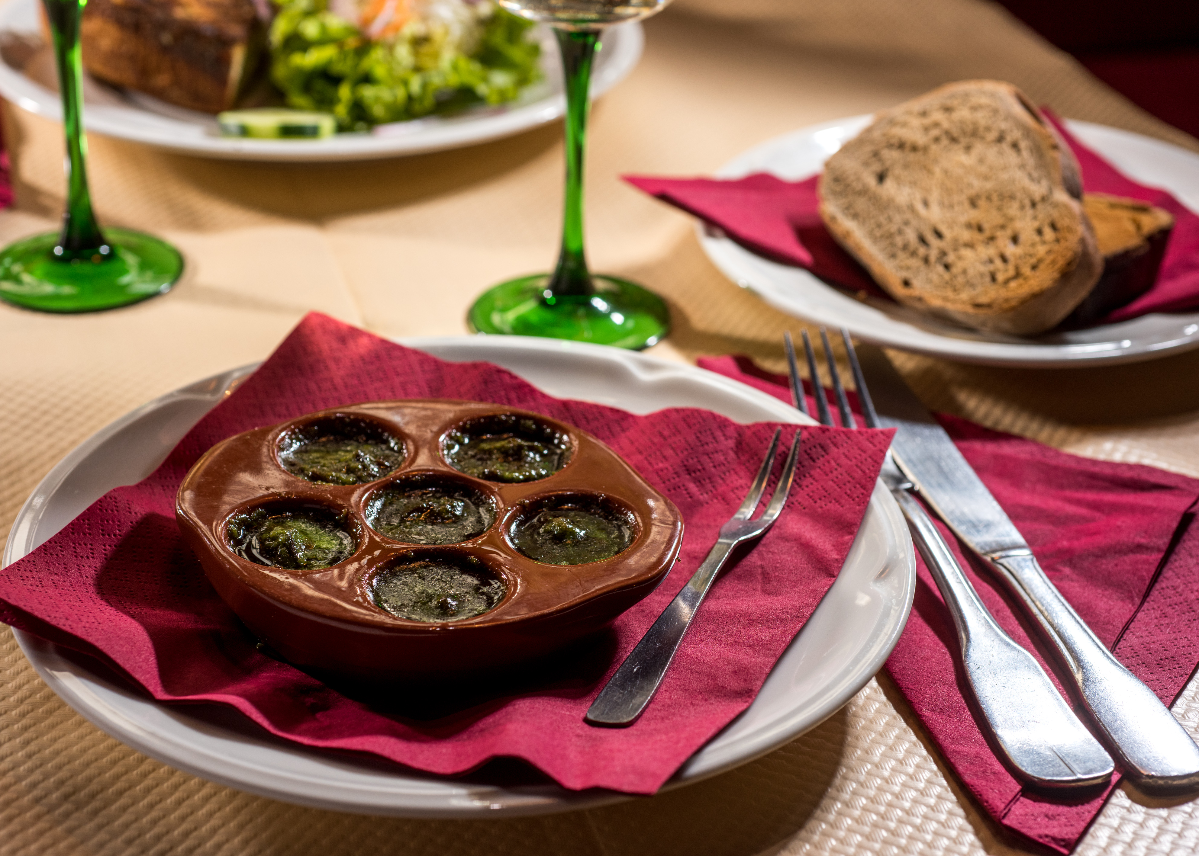 Les escargots à l'alsacienne