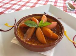 Crème brûlée aux abricots