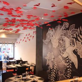 La décoration de la salle de restaurant - - Restaurant Yume Sushi Strasbourg