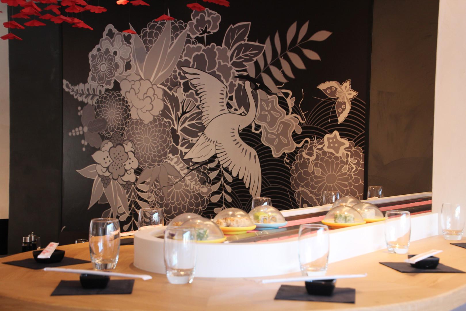 Le kaiten, tapis roulant - restaurant Yume Sushi à Strasbourg