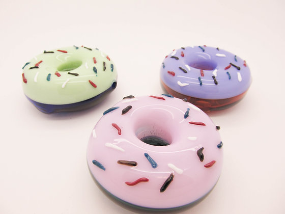 Glass donut pipes multi color