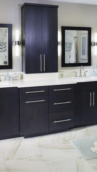 gorgeous-bathroom-with-black-vanity-and-