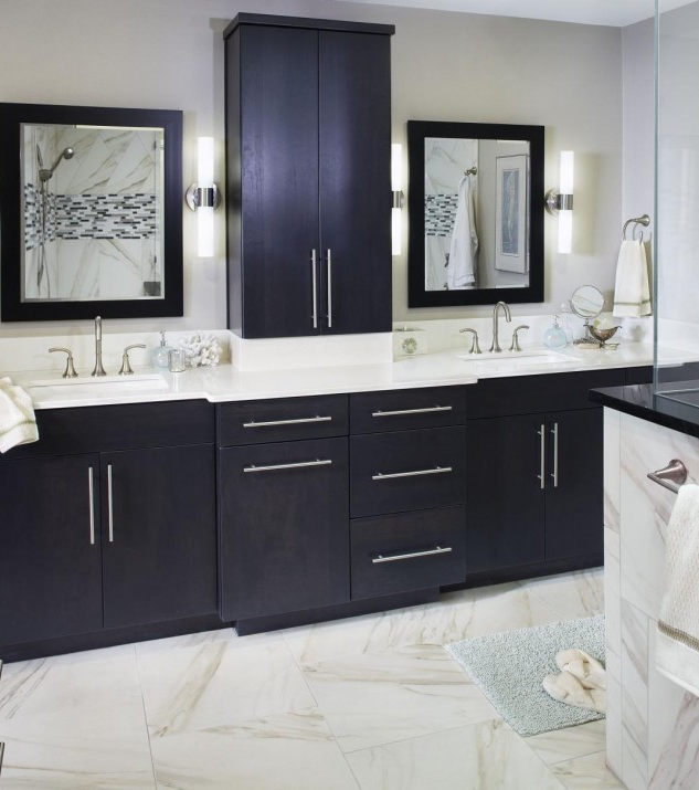 gorgeous-bathroom-with-black-vanity-and-
