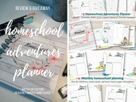Homeschool Adventures Planner - Review + Giveaway! 🎉