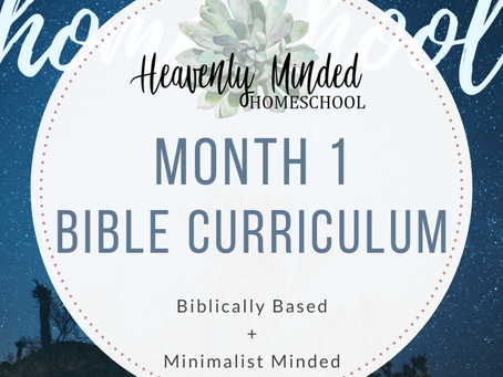 Month 1 Bible Curriculum is Out!