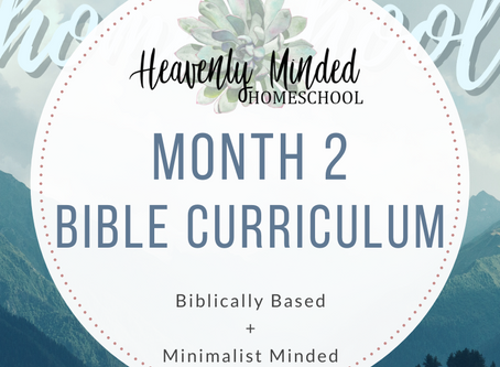 Month 2 Bible Curriculum is Out!