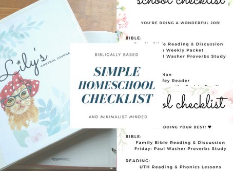 Our Simple Homeschool Tracker