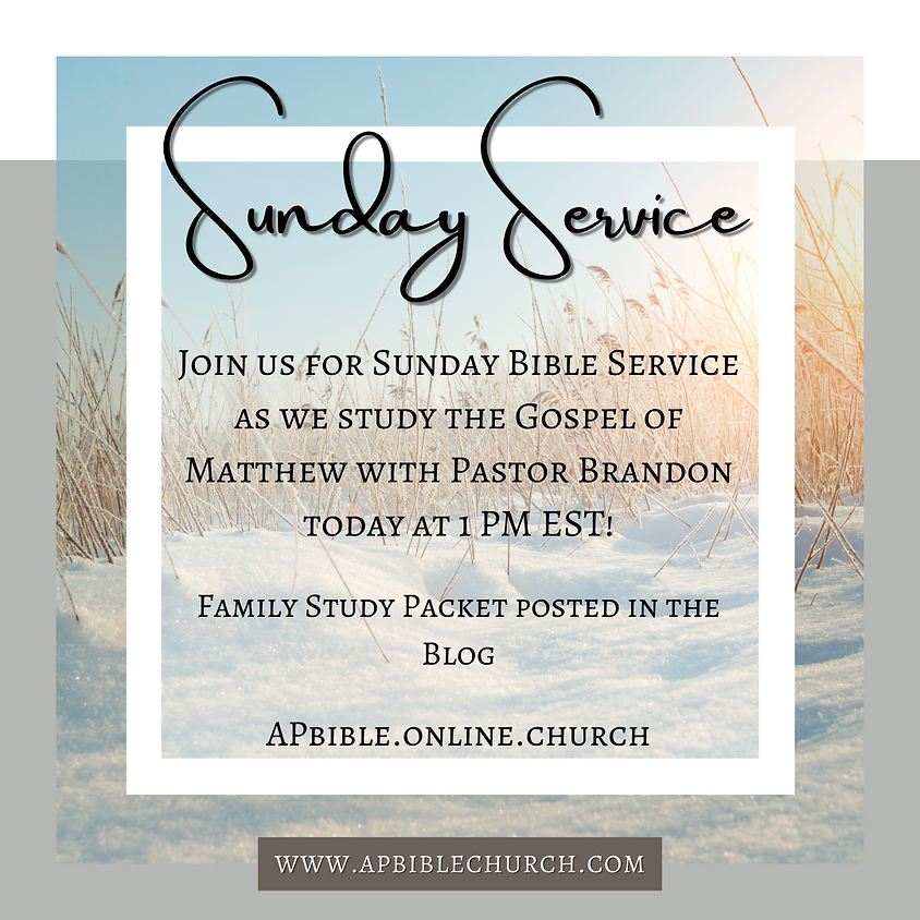 Sunday Bible Service