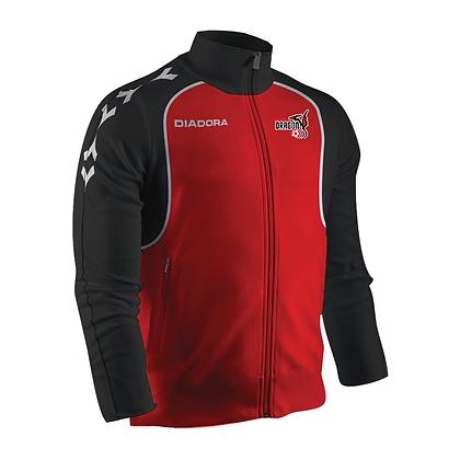 Manteau Diadora Conquer Elite - Rouge avec logo