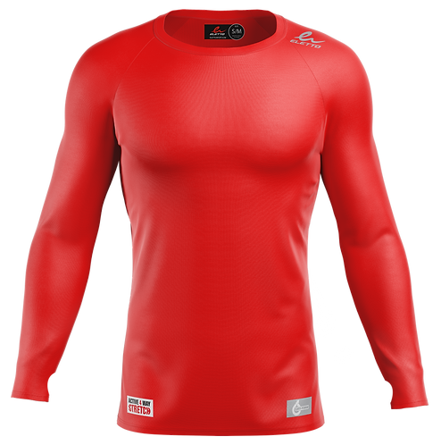 MAILLOT DE COMPRESSION À MANCHES LONGUES ELEMENT GEAR - ROUGE