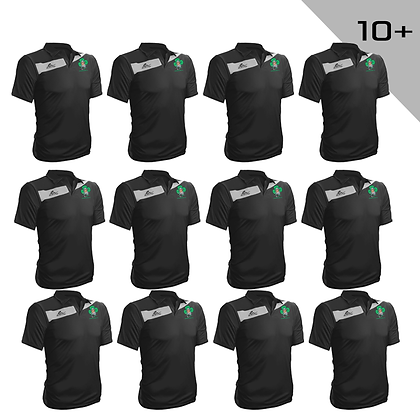 Polo Leeds noir FC Shamrocks 10+