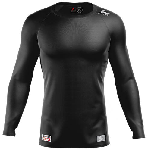 MAILLOT DE COMPRESSION À MANCHES LONGUES ELEMENT GEAR - NOIR