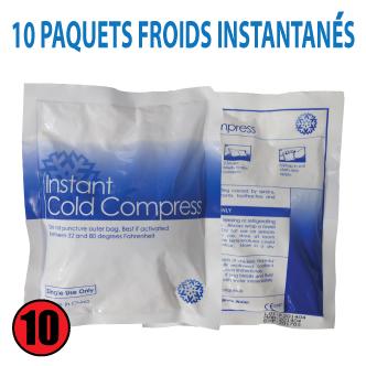 10 SACHETS DE GLACE INSTANTANÉE