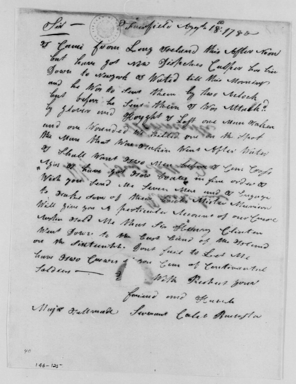 Culper Spy Letter