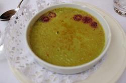 crème brûlée pistache framboise