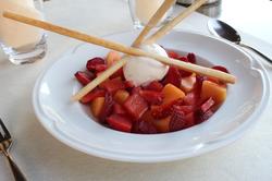 Salade de melon, pastèque et fraises