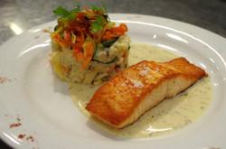 Le filet de saumon sauce à l'oseille