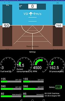 Four cylinder engine managemet Android EFIS
