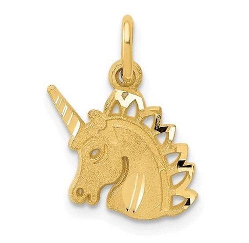 14K Gold Unicorn Charm