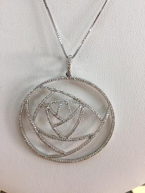 14K Gold 2.80ctw Diamond Infinity Pendant