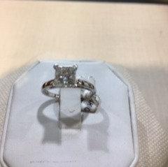 14K Gold 1.46ct Clarity Enhanced Princess Cut Diamond Ring