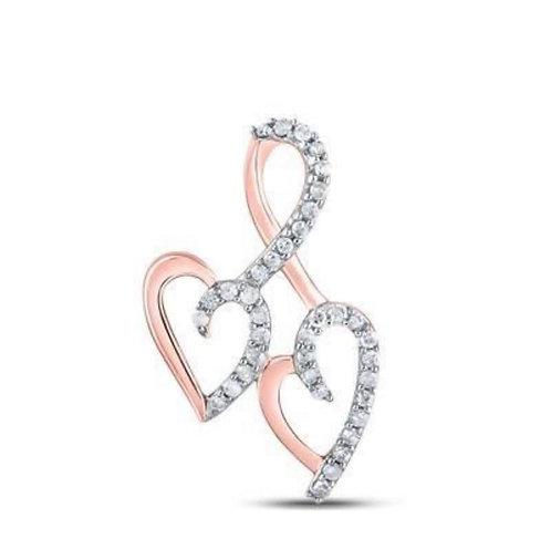 Rose Gold Double Heart Pendant