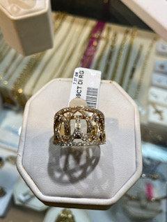 14K Gold .99ctw Diamond Ring