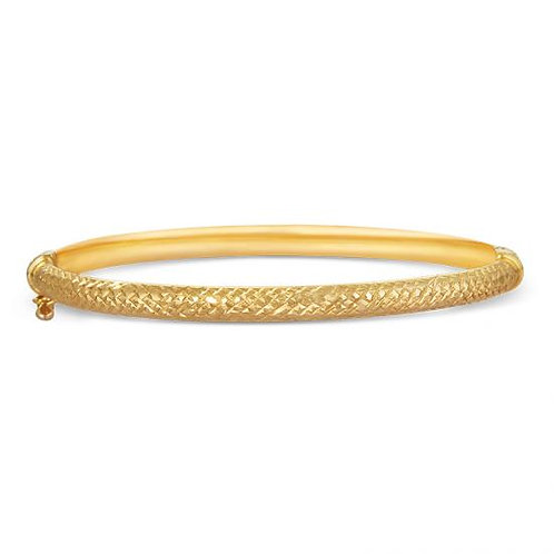 14K Gold Fancy Baby Bangle