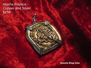 Sterling Silver Atocha Copper Replica King Coin Pendant