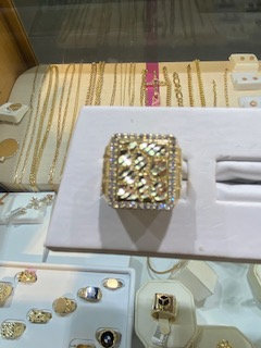 10K Gold CZ Nugget Ring 3