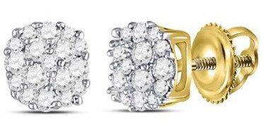 10K .20ctw Diamond Earrings