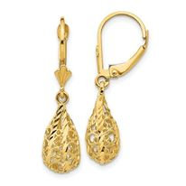 14K Gold Fancy Drop Earrings