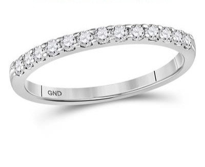14K White Gold .25ctw Diamond Ring