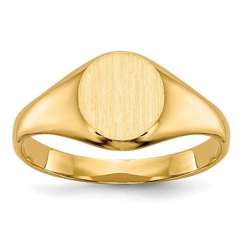 14K Gold Oval Children's Ring