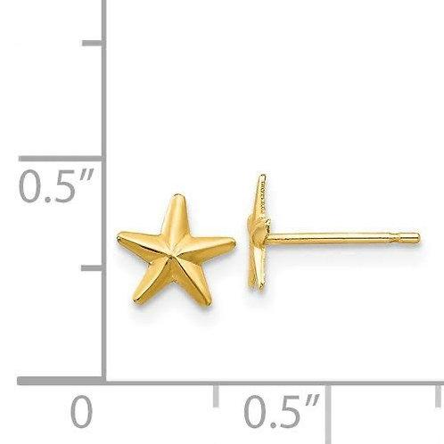 14K Gold Star Earrings