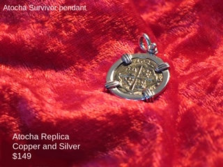 Sterling Silver Atocha Copper Replica Survivor Pendant