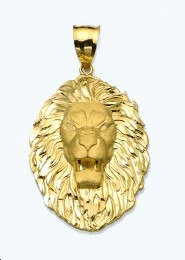10K Gold Lion Pendant