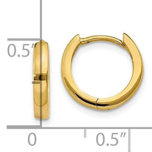 14K Gold Huggie Earrings