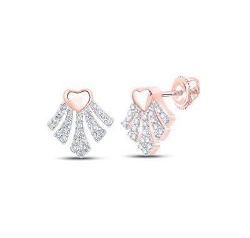 Rose Gold Small Heart Earrings