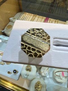 10K Gold Hexagon Honeycomb Ring