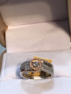 10k Gold .33ctw Diamond Ring