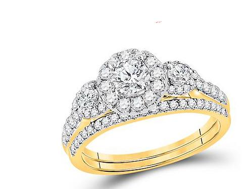 14K Ring 1ctw Diamonds
