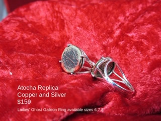 Sterling Silver Atocha Copper Replica Ghost Galleon Ring
