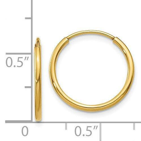 14k Gold Sleeper Hoop Earrings 3