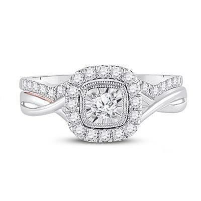 14K Diamond Engagement Ring 3