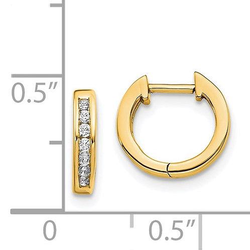 14K Gold .14ctw Diamond Huggie Earrings