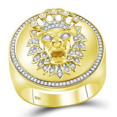 10KT Gold Lion Ring